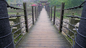 Ancient iron chain bridge Royalty Free Stock Photography
