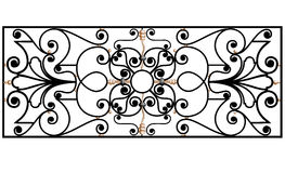 Ancient iron fencing Stock Image