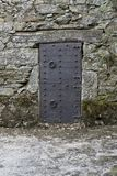 Ancient iron gates of a medieval castle royalty free stock photos