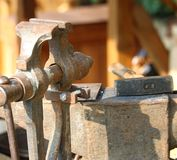 Ancient iron grip of the blacksmith's shop. In the medieval period Royalty Free Stock Images