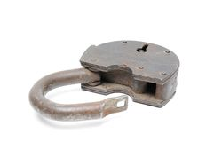 Ancient iron lock Royalty Free Stock Photography