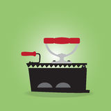 Ancient irons. Vintage Appliances, Ancient irons, Vector illustration Royalty Free Stock Image