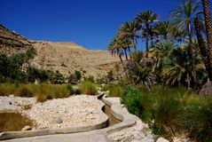 Ancient Irrigation in Oman Stock Photos