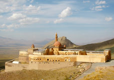 Ancient Ishak Pasha Palace  of Ottoman period in the Dogubeyazıt, Turkey Royalty Free Stock Photography