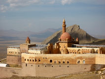 Ancient Ishak Pasha Palace  of Ottoman period in the Dogubeyazıt, Turkey Stock Photography