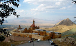 Ancient Ishak Pasha Palace of Ottoman period in the Dogubeyazıt, Turkey Royalty Free Stock Image