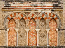 Ancient islamic building decoration Royalty Free Stock Photo