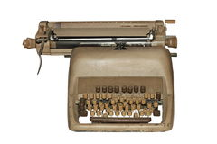 Ancient isolated typewriter Royalty Free Stock Photography