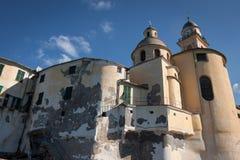 Ancient Italian church agaist blue sky Stock Photo