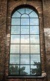 Ancient Italian church window Stock Photo