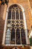 Ancient Italian church window Stock Photography