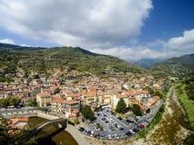 The ancient Italian city Dolceaqua Royalty Free Stock Photos