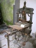Ancient italian printing press stock image