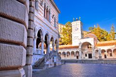 Ancient Italian square arches and architecture in town of Udine Royalty Free Stock Photos