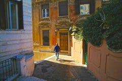 Ancient Italian Town Man Royalty Free Stock Photography