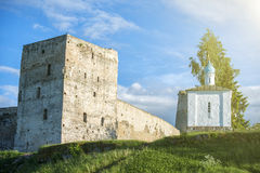 Ancient Izborsk fortress. Stock Images