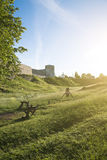 Ancient Izborsk fortress. Stock Photography