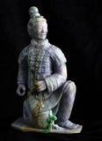 Ancient jade carving art of terra-cotta Stock Image