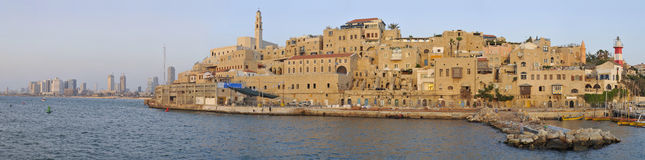 Ancient Jaffa Port. And Tel-Aviv Royalty Free Stock Images