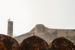 The ancient Jaigarh Fort. Historical monument of the Great Mogul dynasty. India