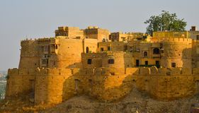 Old buildings in Jaisalmer, India stock image