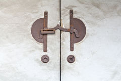 Ancient Japanese hasp Royalty Free Stock Images