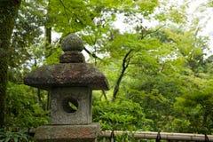 Ancient japanese lantern. From a stone.Kinkakuji Temple(Golden Pavilion) at Kyoto. Japan Stock Photos