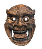 Ancient Japanese mask isolated Stock Photography