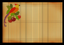 Ancient Japanese reed mat Stock Images