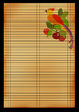 Ancient Japanese reed mat Royalty Free Stock Image