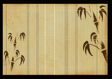 Ancient Japanese reed mat Stock Photography