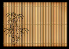 Ancient Japanese reed mat Royalty Free Stock Photos