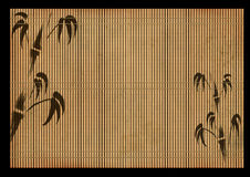 Ancient Japanese reed mat Stock Photo