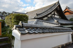 Ancient Japanese Roof. Traditional Japanese buildings with ancient Japanese roofs Royalty Free Stock Photos