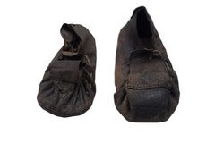 Ancient japanese shoes Royalty Free Stock Photos