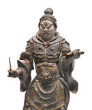 Ancient Japanese statue isolated. Royalty Free Stock Photography