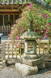 Ancient Japanese stone lantern Stock Photo
