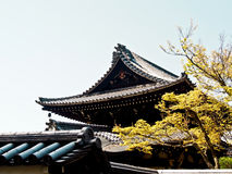 Ancient Japanese style roof Stock Image