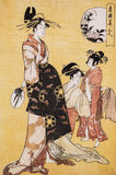 Ancient Japanese traditional dress Royalty Free Stock Image