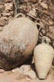Ancient Jar. Handmade from Tunis. Ancient ruins near Djerba Stock Photography