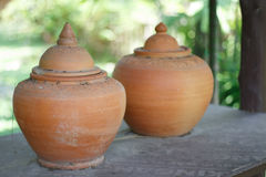 Ancient jar. Thailand in ancient times Royalty Free Stock Images