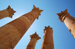 Ancient Jerash. Jerash is known for the ruins of the Greco-Roman city of Gerasa, also referred to as Antioch on the Golden River. It is sometimes misleadingly Royalty Free Stock Photo