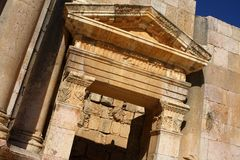 Ancient Jerash ruins Royalty Free Stock Images