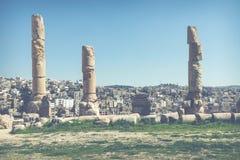 Ancient Jerash. Ruins of the Greco-Roman city of Gera at Jordan stock image
