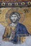 Ancient Jesus Christus mosaic. Inside of the Hagia Sophia Mosque in Istanbul, Turkey stock photos