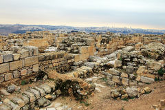Ancient Jewish settlements from the First Temple period Stock Photography