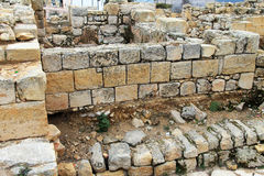 Ancient Jewish settlements from the First Temple period. On Mount Prophet Samuel near Jerusalem stock photo