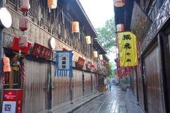 Ancient Jinli Street, Chengdu Royalty Free Stock Photography