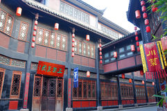 Ancient Jinli Street, Chengdu Royalty Free Stock Photography