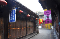 Ancient Jinli Street, Chengdu Royalty Free Stock Photo